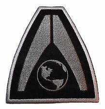"""Mass Effect Earth System Alliance  3 1/4"""" Logo Iron-on/Sew-on Embroidered PATCH"""