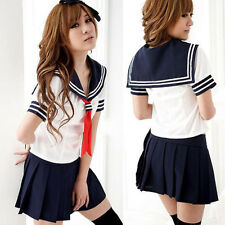 Sailor Navy Fancy Dress Uniform Cosplay Costume Japanese School Girls Outfit Kit