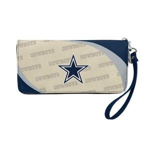 Dallas Cowboys NFL Women's Curve Zipper Organizer Wallet / Purse Handbag