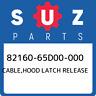 82160-65D00-000 Suzuki Cable,hood latch release 8216065D00000, New Genuine OEM P