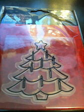 "Imaginisce Christmas Cheer ""Candle Tree"" Clear Stamp!"