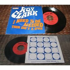 ROY CLARK - I Need To Be Needed / Then She's A Lover French PS Pop Rock 70