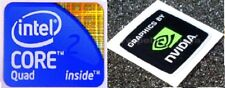 Intel Core 2 Quad Inside Stickers With FREE Nvidia Sticker Chrome vinyl 24mmx18m