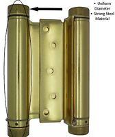 Bright Brass Exterior Finish SOSS Door Hardware 220ICUS3 SOSS 220IC Zinc Invisible Spring Closer for 2 Doors