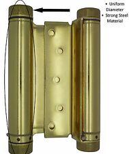 "6"" Polished Brass Double Acting Spring Hinge -Cafe / Saloon Bar Swinging Doors"