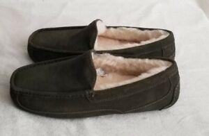 Ugg Men's Ascot Slippers Size: 8 Burnt Olive 1101110 NWOB
