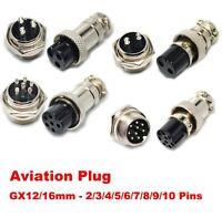 6pair   Aviation Plug Metal Male Female Panel Connector GX16 2 Pin 3 Pin 4 Pin