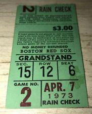⚾️4/7/1973 NY Yankees Red Sox @ Fenway Game #2 Ticket Stub 🎫Yaz Career HR #271