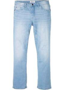 Herren Jeans regular fit Gr. 64 L32 blue bleached used Bootcut Stretchjeans neu