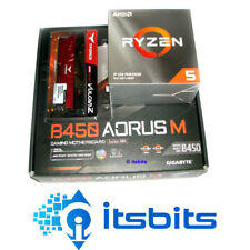 GIGABYTE B450 AORUS M + AMD RYZEN 5 3600 3.6Ghz SIX CORE + 8GB 2666 DDR4 RAM