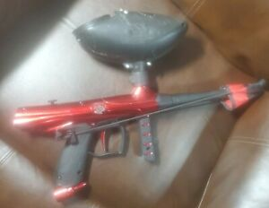 Tippmann Gryphon Red Paintball Gun with Hopper and Cloth Barrel Cover