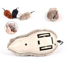 Random Color Clockwork Spring Power Plush Mouse Toy Cat Dog Playing Toy