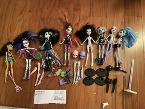 Lot Mattel Monster High Doll Lot of 8 Ghouls Frankie Ivy Yelps