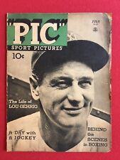 "1937, Lou Gehrig, ""PIC"" Oversize  Magazine (RARE)"