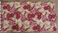 """LULA BELLE Quilted Table Runner 42"""" - Flowers - Rose, Wine, Green, Gold Cream"""