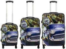 Set de 3 valises à fermeture TSA, poignées télescopiques et roulettes pivotantes