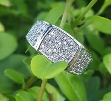 18KWhite Gold Plated 115 pieces AAA CZ Micro Pave Iced Out  Hip Hop Pinky Men's