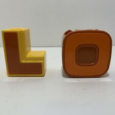 1985 Bandai Letters L Lion, O Owl, Alphabet Letter Rare Vintage Lot Of 2