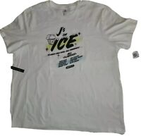 "NWT Nike Air Jordan ""J's On Ice"" NYC White t-shirt Men's Size XXL 100% Cotton"