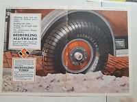 1926 Seiberling All Treads Car Tires Tubes Two Page Color Original Ad AS IS