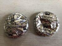 2 Queen Elizabeth ll Silver Jubilee 1977 Milk Bottle Top Silver Foil Memorabilia
