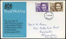 GB FDC 1973 Royal Wedding, Birmingham FDI #C19413