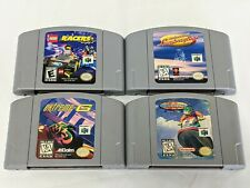 Lot of 4 Racing Games for Nintendo 64 - Lego Racers Extreme G Wave Race Lamborg