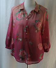 Joe Fresh, Small Floral Print Polyester Top, New with Tags