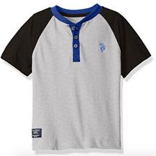 NEW U.S. Polo Assn. Little Boys' Raglan Color-Block Henley Shirt sizes 2T-18