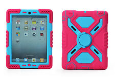 iPad Mini Pink Blue  Rugged Silicone Hybrid Protector Case with Stand