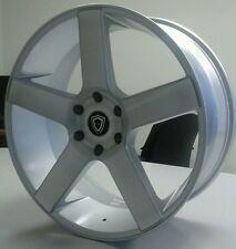 CAPRI WHEELS 22 INCH 5288 Silver wheel rim DUB BALLER LEXANI TEXAS GMC CHEVY