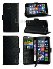 """For Alcatel One Touch Pixi 4 (4.0"""") 4034 - Carbon Fibre Effect Case &Ret Pen"""