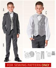 BURDA SEWING PATTERN! MAKE BOYS SUIT! PANTS~VEST~JACKET! 9-15 YR! FORMAL CLOTHES