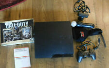 320Sony PlayStation 3 - Slim Console 320GB Black  Move Motion with camera Used