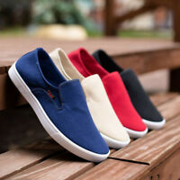 Mens Canvas Shoes Slip On Summer Casual Comfort Walking Loafers Driving Moccasin