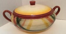 Vernon Ware Homespun Covered Casserole  Dish