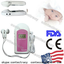 US ship LCD Fetal doppler Baby Prenatal Heart Monitor+Gel Ultrasonic Doppler,FDA