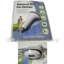 Universal USB DC Car Travel Charger Portable Power Adapter LED Power Indicator