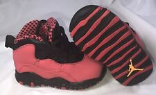 Nike Air Jordan Retro X 10 Fusion Red Black Baby Kids Boys School Size 4.5C 4  5