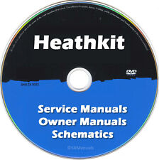 Heathkit Repair & Service Owner Schematics PDFs manuals on DVD Huge Set