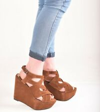 f9a2c5a7493 brown wedges size 7 | eBay