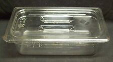 """Restaurant Equipment Bar Supplies CAMBRO 1/3 SIZE FOOD PAN WITH LID 4"""" CLEAR"""