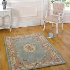 Luxury Rugs 100 Wool Thick Hard Wearing Small Large Runner Heavy Floral Modern 60 X 120cm Green Lotus