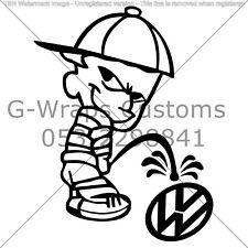 Pissing Kid Sticker VW JDM HQ Universal All Car SEAT AUDI VW VAG BMW HONDA &MORE