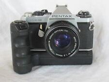 Vintage Pentax ME Super Camera ASAHI SMC PENTAX-M 50mm f2 Lens Winder ME II