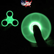 2 PACK Glow In the Dark Hand Spinner Tri Fidget Focus Tool Desk Toy Stocking