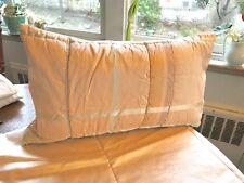 silk quilted boudoir pillowcase pale pinks beige zipper13x24 VINT freshly made
