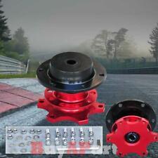 New Snop Off Steering Wheel Quick Release Hub Adapter Kit Universal Red