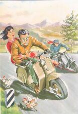 Cartolina postale d'epoca nuova - VELOCITA' IN LAMBRETTA - Vespa Piaggio