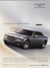 CHRYSLER 2005 photo print ad 300 C clipping car vtg cool engine before kissing